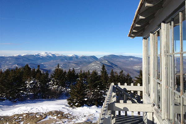 views from the firetower atop Kearsarge North in North Conway