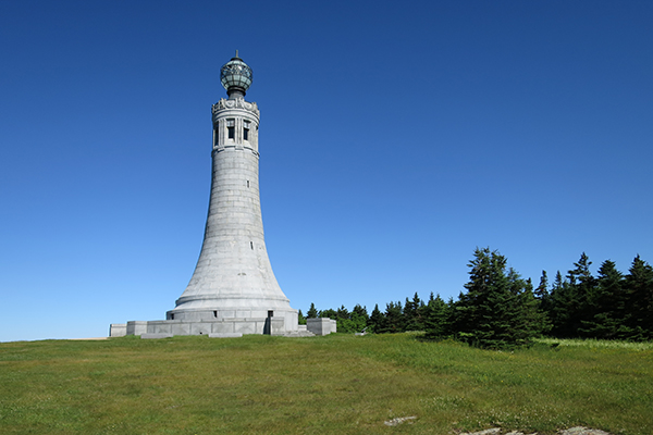 monument at the top of Mount Greylock