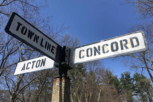 Action / Conford Town Line Sign
