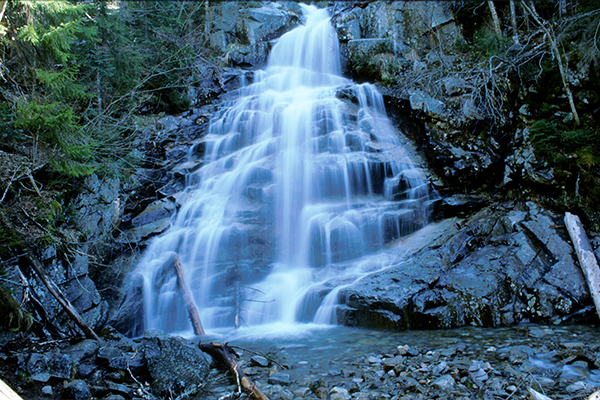 Cloudland Falls, Falls On The Falling Waters Trail, New Hampshire