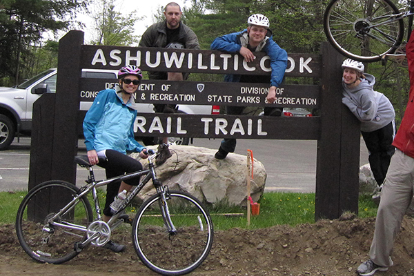 Ashuwillticook Rail Trail in the Berkshires region