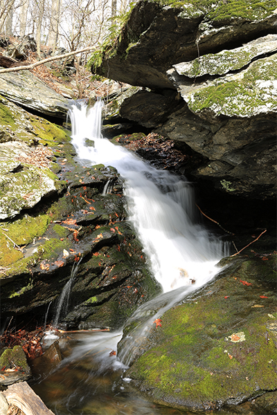 Falls At Sheepskin Hollow Preserve, Connecticut