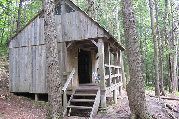 shelter on the Tully Trail just north of Royalston Falls, Massachusetts