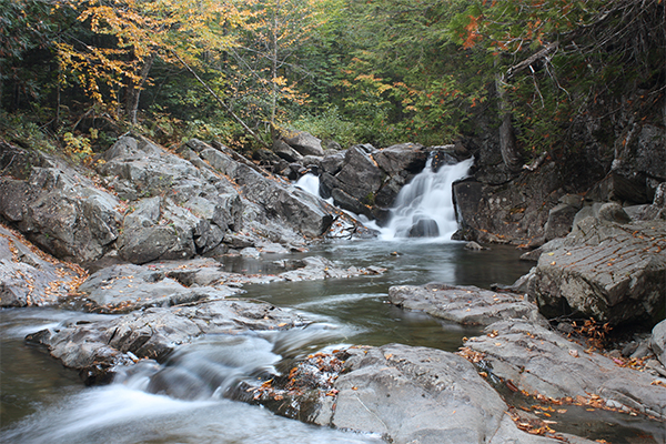 Huston Brook Falls, Carrabassett Valley
