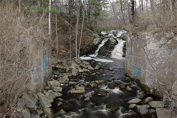 Webhannet Falls and the unfortunate spraypaint that is often seen