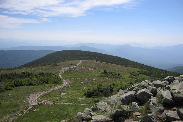 view from near the summit of Mt. Moosilauke, New Hampshire