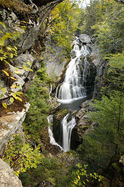 Crystal Cascade in early fall, New Hampshire