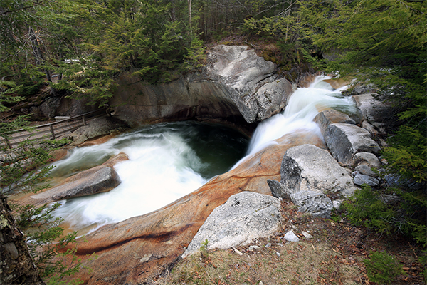 Falls on the Basin-Cascades Trail, New Hampshire