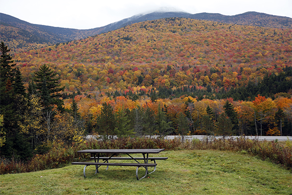 the pretty view from the trailhead & picnic area on Mt. Clinton Road