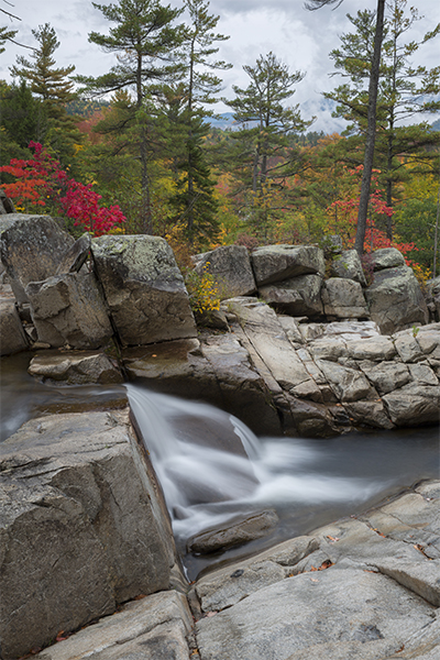 part of the middle falls of Jackson Falls, New Hampshire