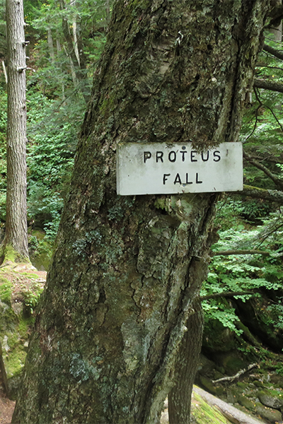 sign for Proteus Fall, New Hampshire