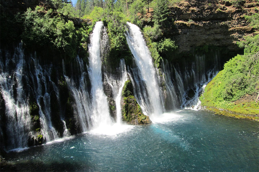 The Top Waterfalls In The United States Page Of - California waterfalls map