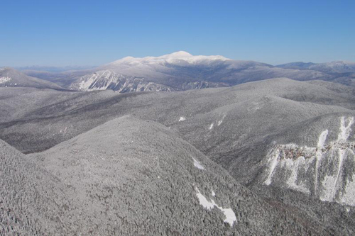 Mt. Washington from Mt. Carrigain in winter