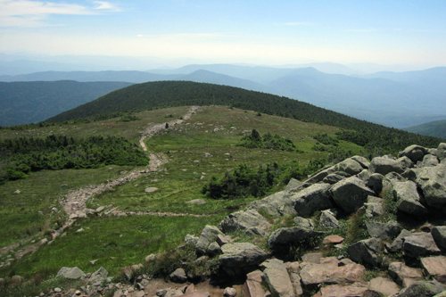 alpine walking on Mt. Moosilauke