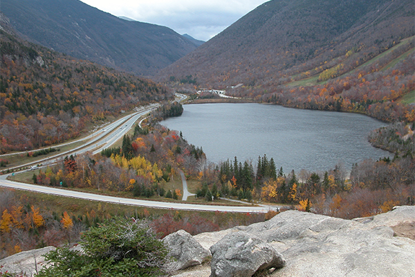 Echo Lake as seen from Artist Bluff, Franconia Notch, New Hampshire