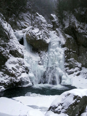 Bash Bish Falls, Massachusetts in winter