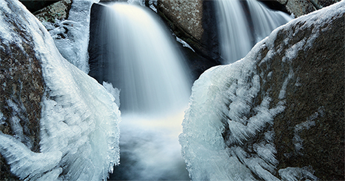 Trap Falls, Massachusetts in winter